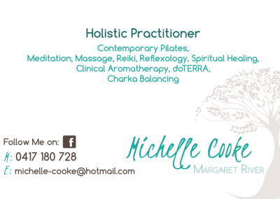 Holistic practitioner cards back