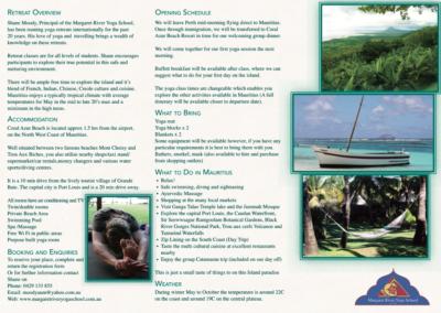 Yoga in Mauritius Flyer design