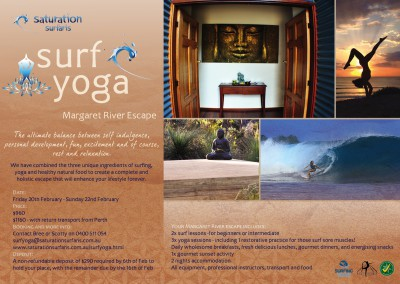Surf Yoga poster Margaret River
