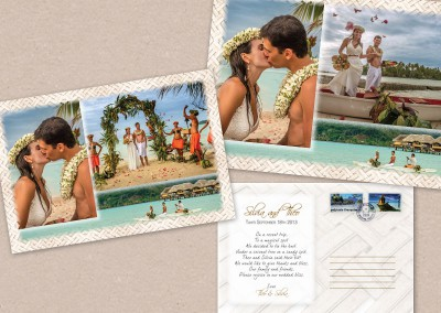 Wedding postcard design and print